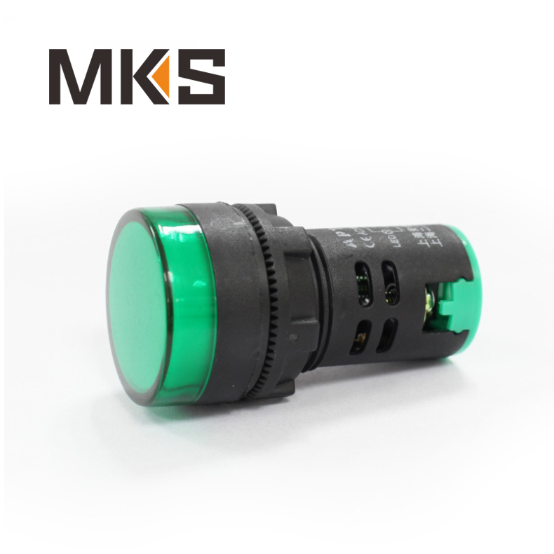 waterproof plastic 22mm green machine led indicator light
