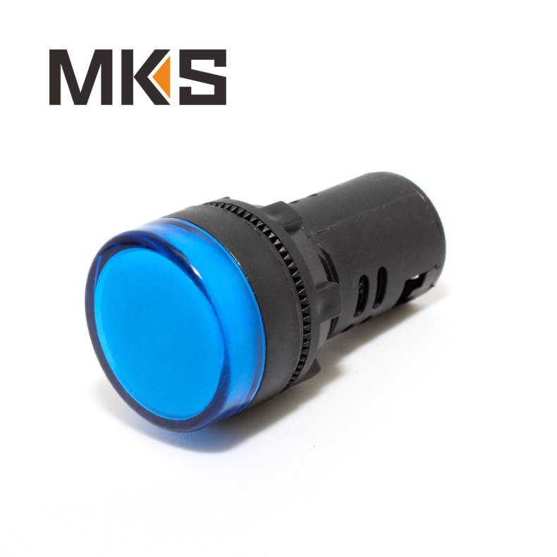 Yueqing factory sales 22mm led indicator light blue color