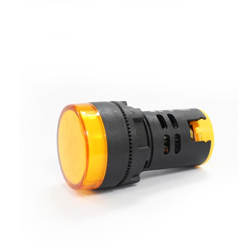 Hot sale 22mm plastic 240v indicator light amber color led