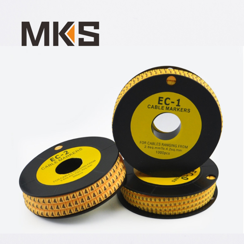 EC-J cable wire 3.6mm2~7.2mm2 cable marker with symbol ,CE certification