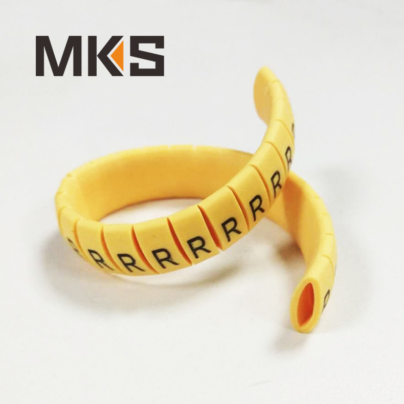 EC series PVC yellow cable marker wire tags