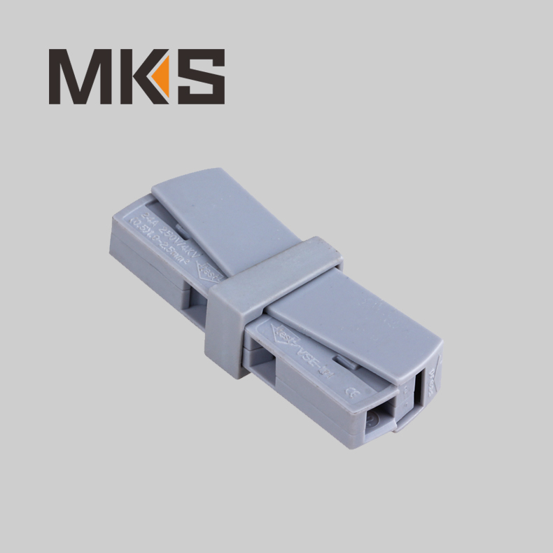 224 Series Push Action Lighting Wire Connector Terminal Block for Solid and Stranded and Flexible Cables