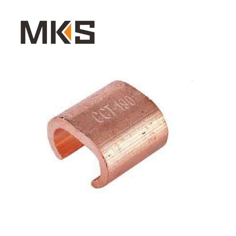 C Shaped Tin Plated Clamp Electrics Copper Cable Clamps