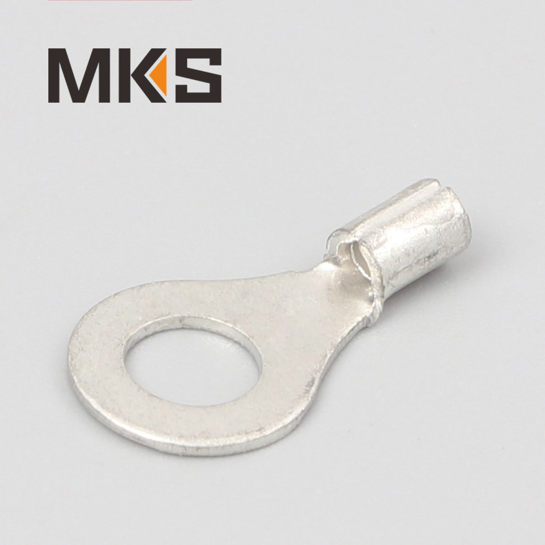 Ring shape naked non-insulated ring wire terminal
