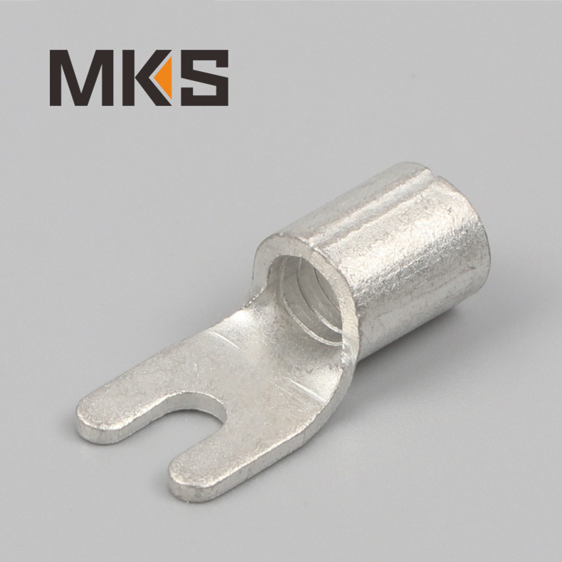 Naked bare Y type spade electrical wire fork terminal