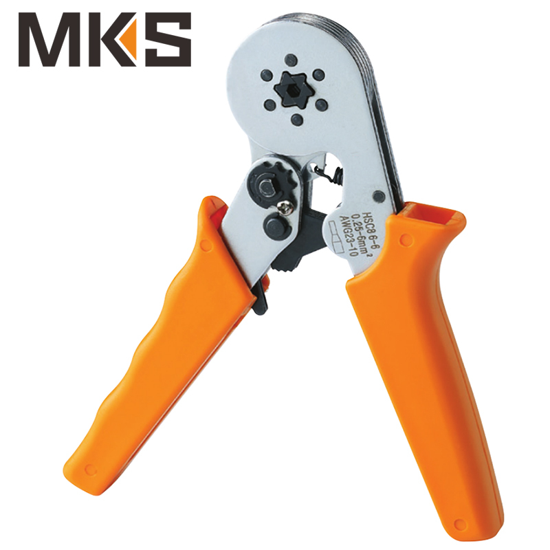 HSC8 6-6 Mini type self-adjustable square crimping plier for cord end ferrules terminals