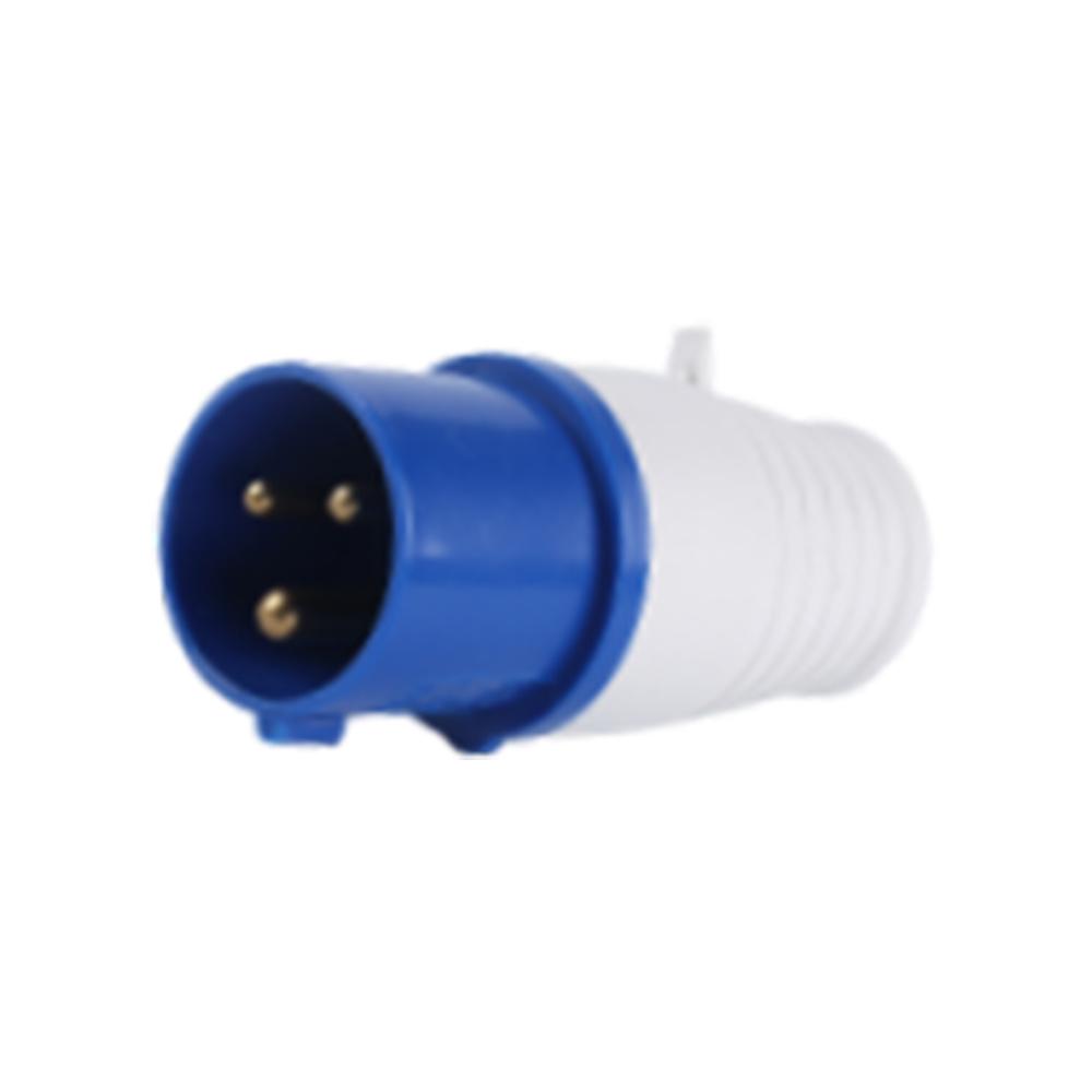 013 023 16A 32A 220V 3 poles blue color industrial plug