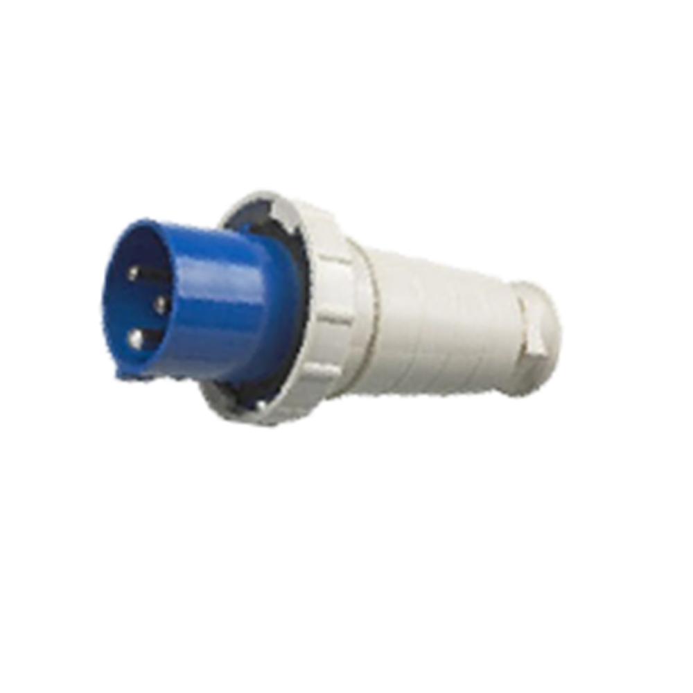 033 043 63A 125A 220V 3 poles blue color industrial plug