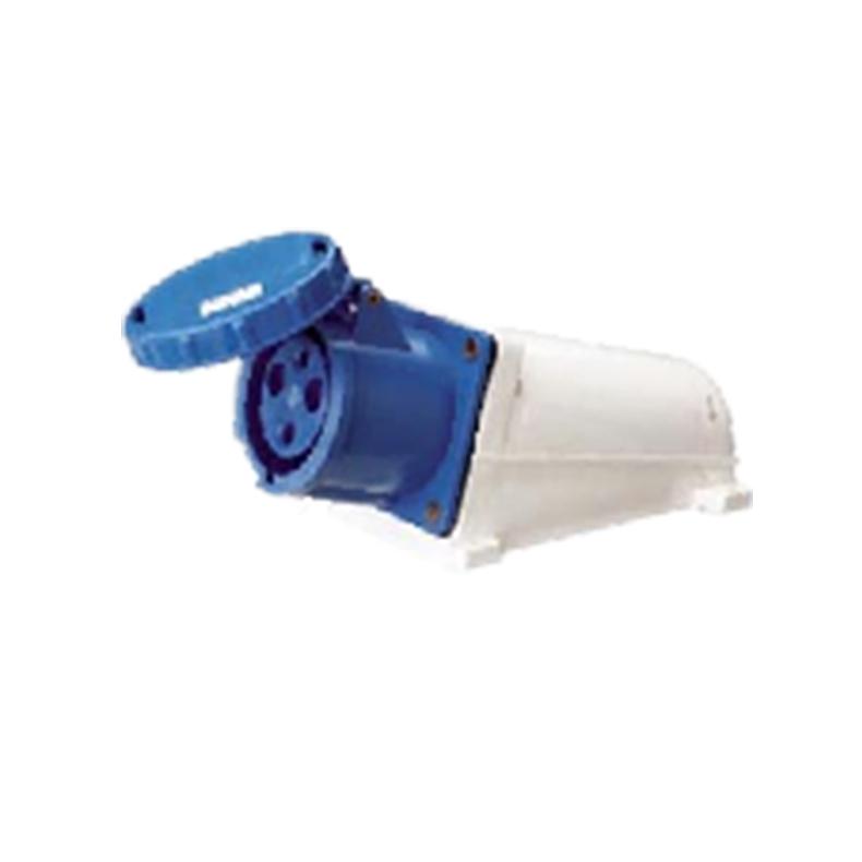 133 143 63A 125A 220V 3 poles blue color industrial wall socket