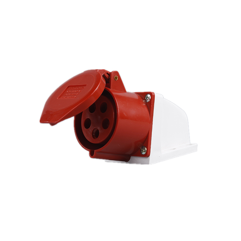115 125 16A 32A 380V 5 poles red color industrial wall socket