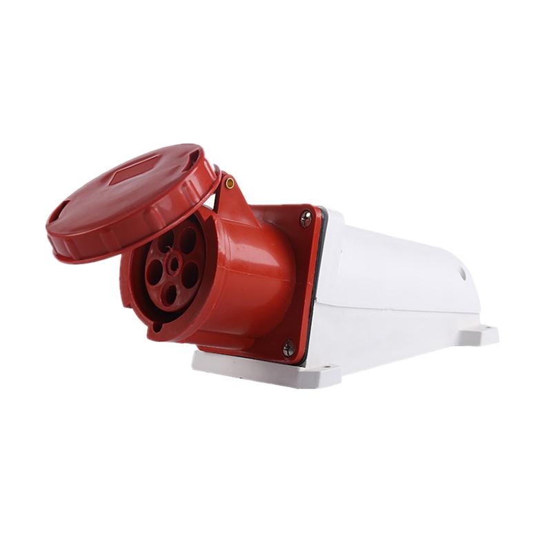135 145 63A 125A 380V 5 poles red color industrial wall socket