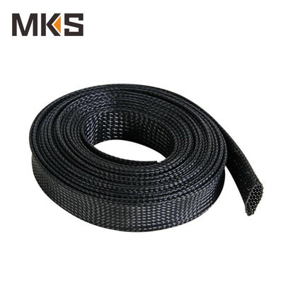 PET02 wire protecting colorful PET expandable braided sleeving