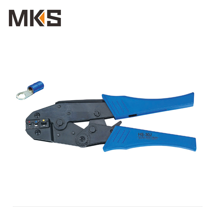 HS-30J ratchet crimping plier european style for insulated vinyl heat shrink ring fork pin terminal